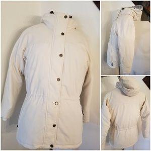 Sorel Hooded Down Fill Jacket Ivory Sz S